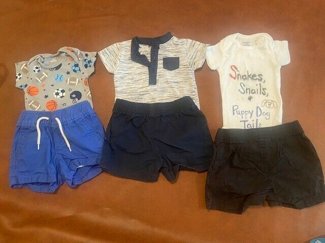 Baby Boy Clothes 0-3 Mos. Lot Of  6 Pieces Baby Gap,kyle&deena,gerber,garanimals