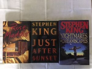 STEPHEN KING hardcover books for sale - 6 books for $25.