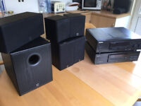 Kenwood Audio-Video Surround Receiver + CD Player and incl. 6 Speaker