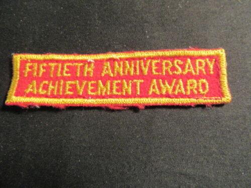 1960 BSA 50th Anniversary Achievement Award Strip, Worn     c91