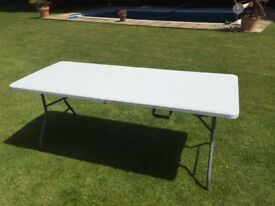 White 6ft folding garden table