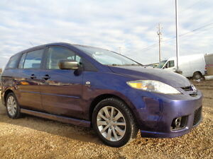 2007 Mazda Mazda5 GT SPORT--5 SPEED--ONE OWNER---ONLY 99,000KM