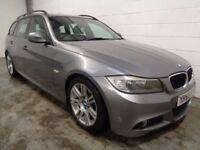 BMW 318 DIESEL M-SPORT ESTATE,2009/59, 1 YEARS MOT, HISTORY, FINANCE AVAILABLE, WARRANTY,