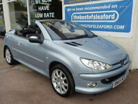 Peugeot 206 Cabriolet 1.6 AllureS/H to 91k Cheap Summer Fun p/x