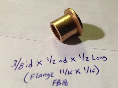 Oilite Flange Bushing Bronze 38 Id X 12 Odx12 Brass Bush Shim Spacer Bearing