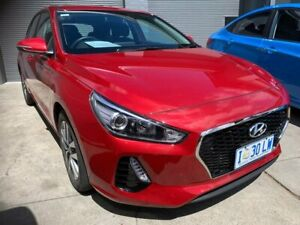 2019 Hyundai i30 PD2 MY20 Active Red 6 Speed Sports Automatic Hatchback North Hobart Hobart City Preview