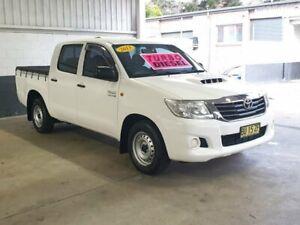 2013 Toyota Hilux KUN16R MY14 SR Double Cab 4x2 White 5 Speed Manual Utility Homebush Strathfield Area Preview