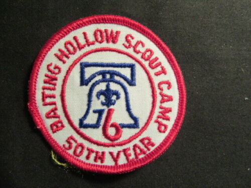 Baiting Hollow Scout Camp 1976 50th Anniversary Liberty Bell Patch    c91