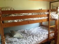 Wooden Bunk Beds with detail spindles and ends ALL SOLID WOOD