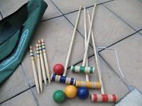 Traditional Garden Croquet Set