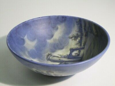 Vintage Vase Trash Can Ceramics Sample Hand-Painted & Signed Xx Century
