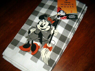 Disney Minnie Mouse Halloween Themed 2-Pack Kitchen Hand Towels 100% Cotton