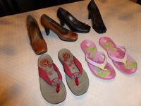 4 Paires de chaussures pour femme. Gr : 9