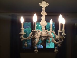 Porcelain chandelier with Capo-di-Monte factory mark