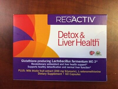 Essential Formulas - Reg'Activ Detox & Liver Health - 60 Capsules - EXP- 04/2020