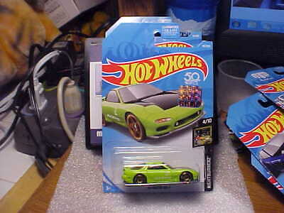 Hot Wheels Stickers (Hot Wheels Nightburnerz '95 Mazda RX-7 Lime Green with 2018 Factory Seal)