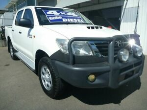 2012 Toyota Hilux KUN26R MY12 SR Double Cab White 5 Speed Manual Utility Edwardstown Marion Area Preview