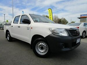 2014 Toyota Hilux TGN16R MY14 Workmate Double Cab White 4 Speed Automatic Utility Welshpool Canning Area Preview