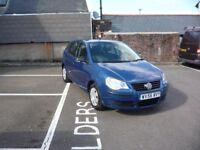 2006(56) VW POLO 1.2 5-DOOR HATCH IN BLUE MET,SERVICED WITH NEW MOT 3-MONTHS WARRANTY