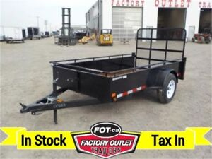 3K - 5 X 10 Single Axle Utility -*Canadian Made*- TAX IN!!