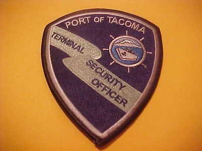 PORT OF TACOMA WASHINGTON SECURITY POLICE PATCH SHOULDER SIZE NEW