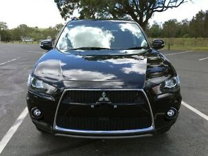 2010 Mitsubishi Outlander ZH MY10 XLS Black 6 Speed Constant Variable Wagon Stapylton Gold Coast North Preview