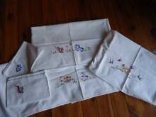 Baby cot linen, embroidered cotton, very cute Glenfield Campbelltown Area Preview