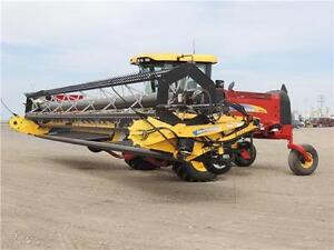 2012 NH H8060 Swather 36', 2 Roto Shears, Roller, Ez-Pilot,524hr