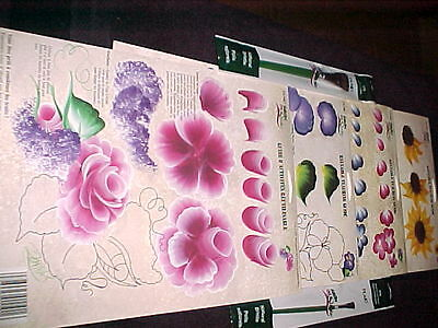 - Donna Dewberry 4 Flower RTGS Cabbage Rose Pansy Sunflower+ 2 One Stroke Brushes