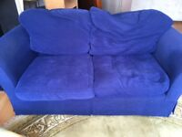 2 Navy Sofas For Sale