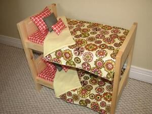 "Wooden Bunk Beds for American Girl or other 18"" dolls"