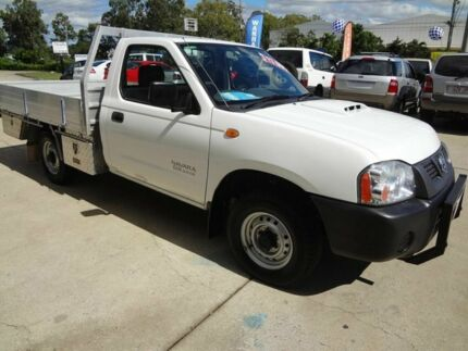 2010 Nissan Navara D22 MY08 DX White 5 Speed Manual Cab Chassis Wacol Brisbane South West Preview
