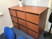 Office 3 Drawer Filing Units (FREE)
