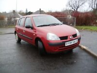 05 Red Renault Clio Authentique 1.2 Hatchback *low mileage*