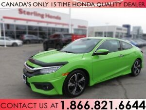 2017 Honda Civic Coupe TOURING | ALL WEATHER MATS | 1 OWNER | NO