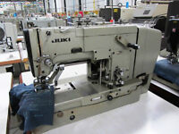 JUKI LBH 761 BUTTON HOLE INDUSTRIAL SEWING MACHINE USED