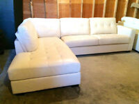 BRAND NEW!!! Off-White Leather Sectional
