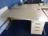office furniture 1.6 meter maple wave desks