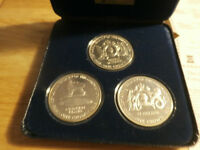 .3 piece silver  coin set of the south atlantic coronation crown