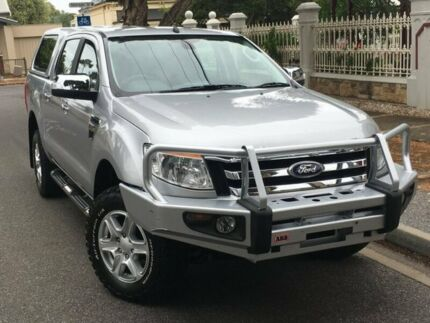 2013 Ford Ranger PX XLT Double Cab Silver 6 Speed Sports Automatic Utility West Hindmarsh Charles Sturt Area Preview