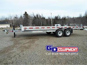 20 ft GALVANIZED Deck over trailer x 8.5 ft wide, 14,000 lb