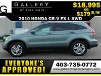 2010 Honda CR-V EX-L AWD $179 bi-weekly APPLY NOW DRIVE NOW