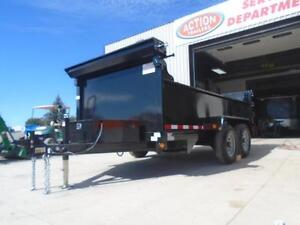ALL PURPOSE DUMP TRAILER 6 X 12 5 TON WITH COMBO GATE QUALITY London Ontario image 2