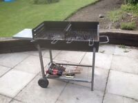 Portable Double 'Half oil drum type' Barbeque