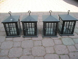 Hanging outdoor / indoor candle holders