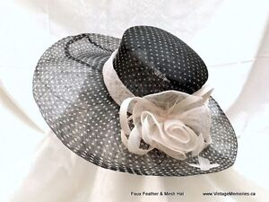 Beautiful feather fascinator, lady hats fancy hair clip on sale