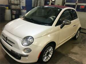 2014 FIAT 500C LOUNGE DÉCAPOTABLE 8980$ FINANCE MAISON 100% APPR