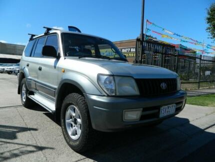 1999 Toyota Landcruiser Prado VZJ95R GXL (4x4) Silver 4 Speed Automatic 4x4 Wagon Williamstown North Hobsons Bay Area Preview