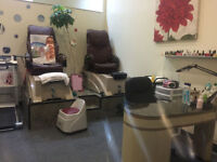 Professional Massage Chair for Spa-Pedicure NATURAL LEATHER