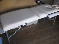 Therapy table or Beauty Couch £35, adjustable, portable, but sturdy, carry bag & fits car boot